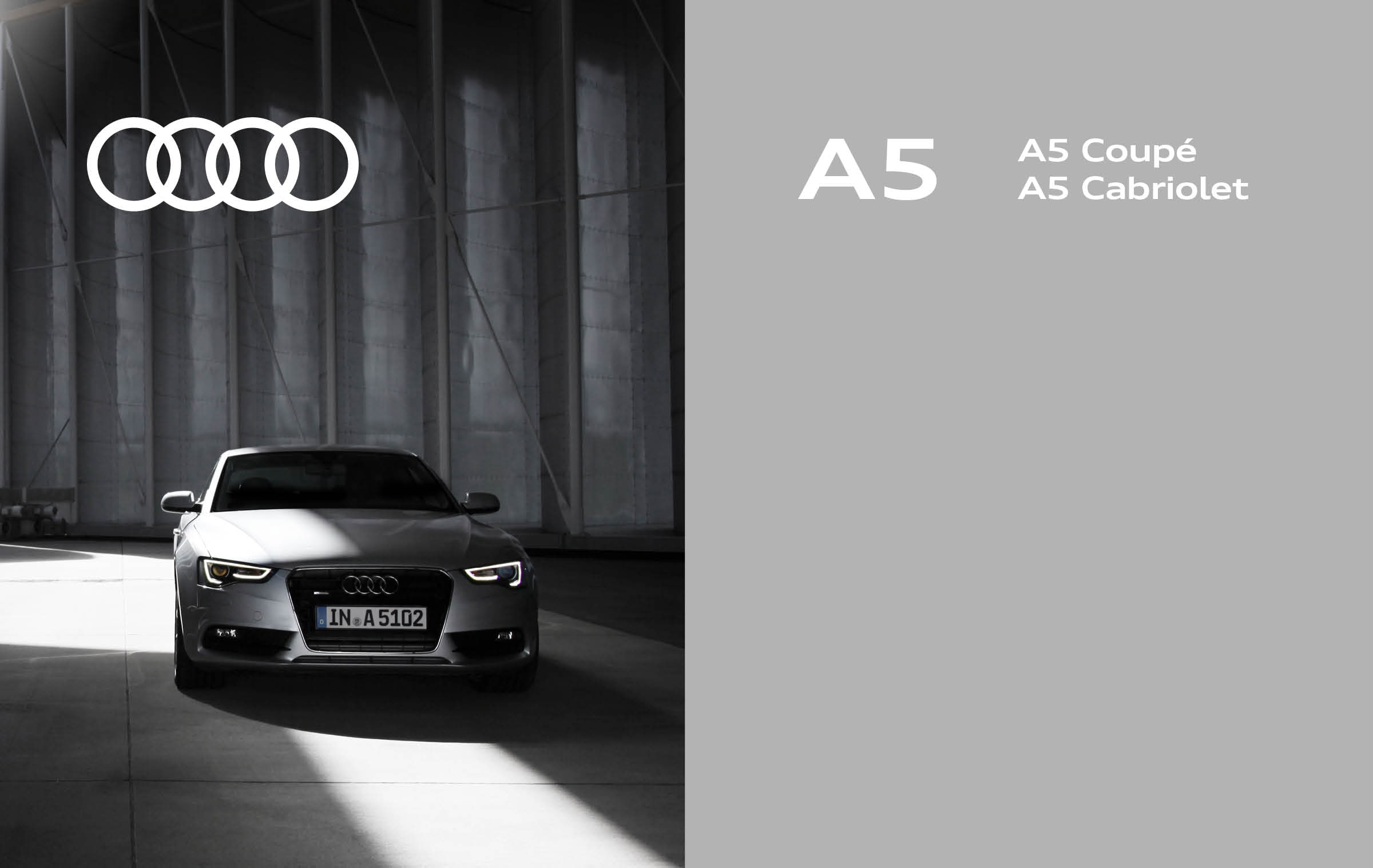 Audi original traditional brand metal sign.