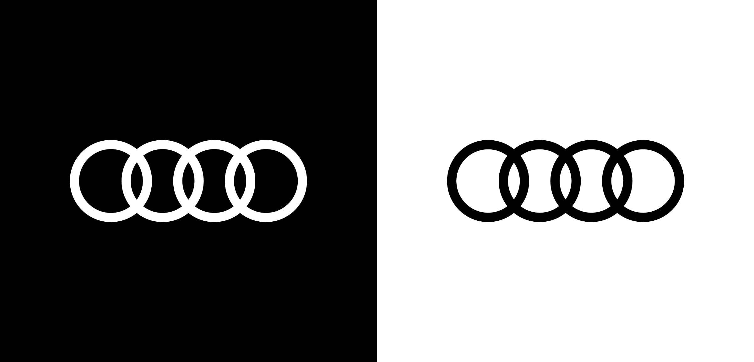 logo products emblem quattro turbo rings audi trunk rear badge oem
