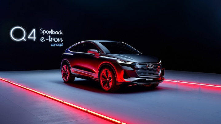 The future of e-mobility: A concept car like no other – the Audi Q4 Sportback e-tron concept perfectly combines the demands on the car of the future.