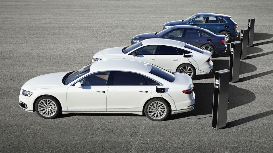Efficient and powerful: the new plug-in hybrid models: Audi Q5, A6, A7 and A8