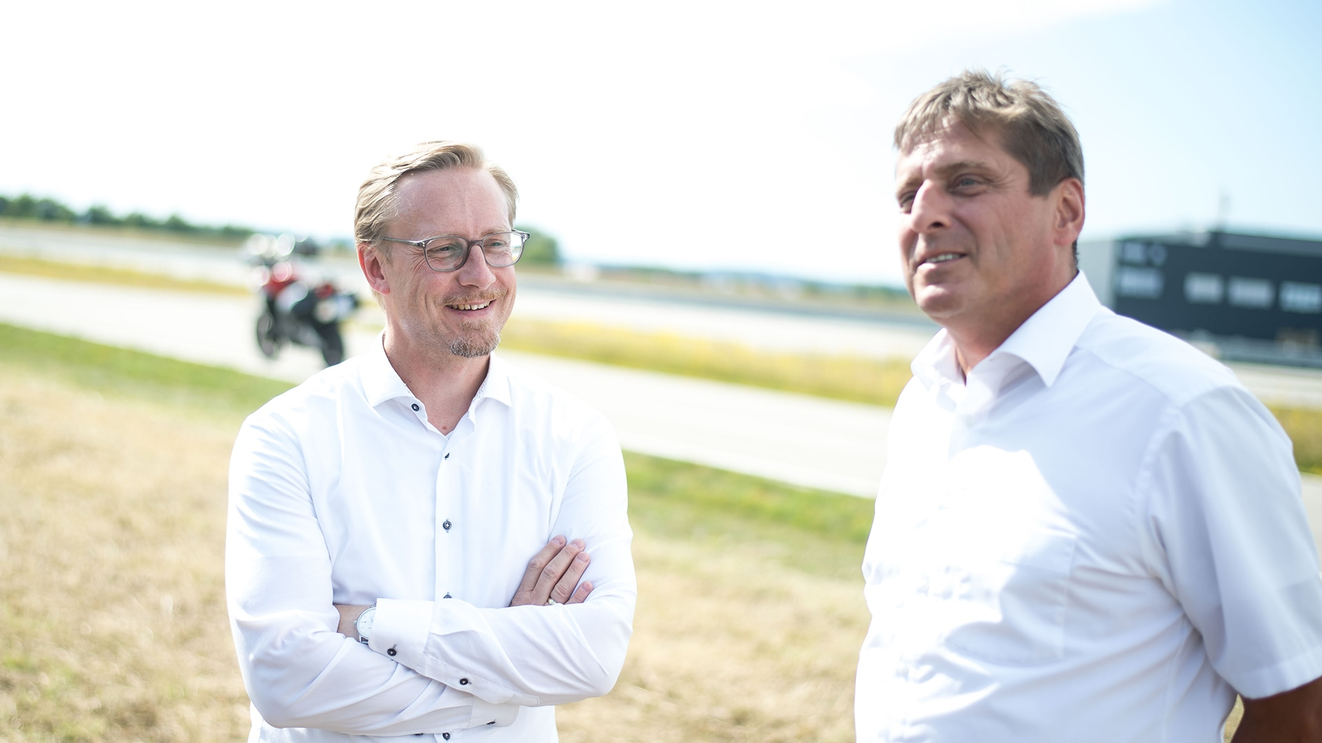 5GAA chair Christoph Voigt (left) and Gerhard Stanzl, Head of Smart Mobility / Machine Learning Pre-Development at Audi Electronics Venture GmbH, are pinning high hopes on the new technologies.
