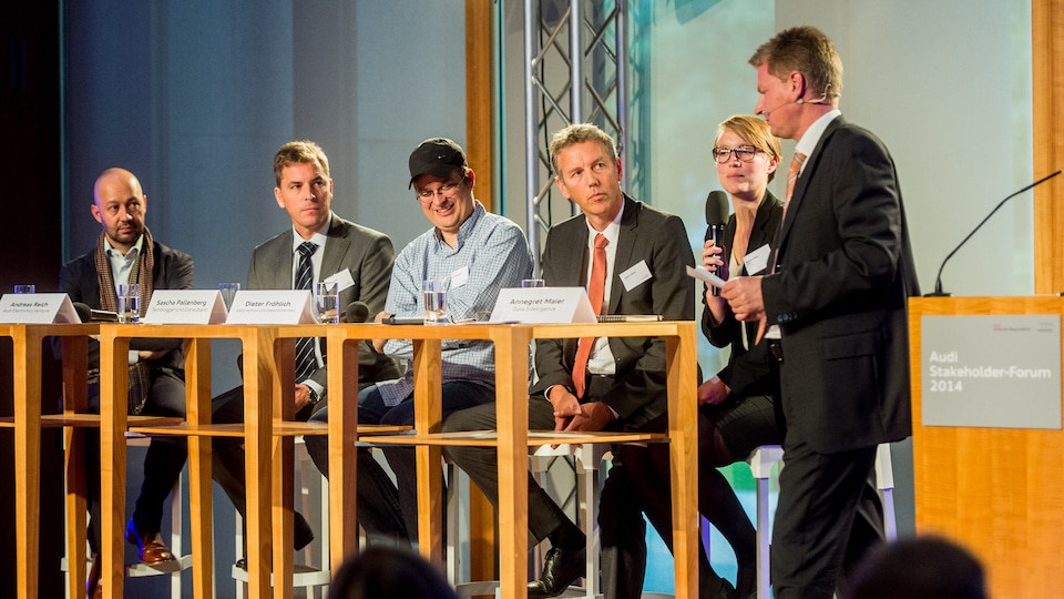 Intensive dialogue at Audi Stakeholder Forum 2014 in Berlin