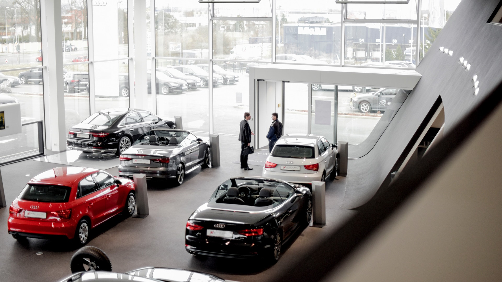 The car dealership that opened in 2016 offers the latest Audi model range for customers to test.