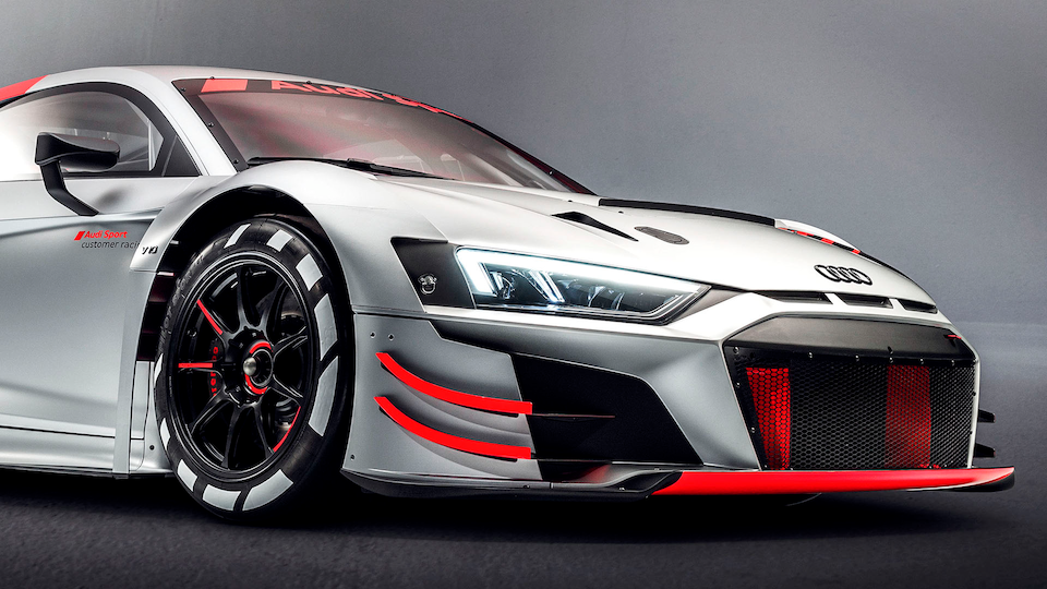 Front of the Audi R8 LMS