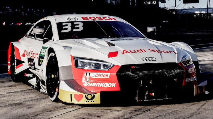 Audi RS 5 DTM in der Box