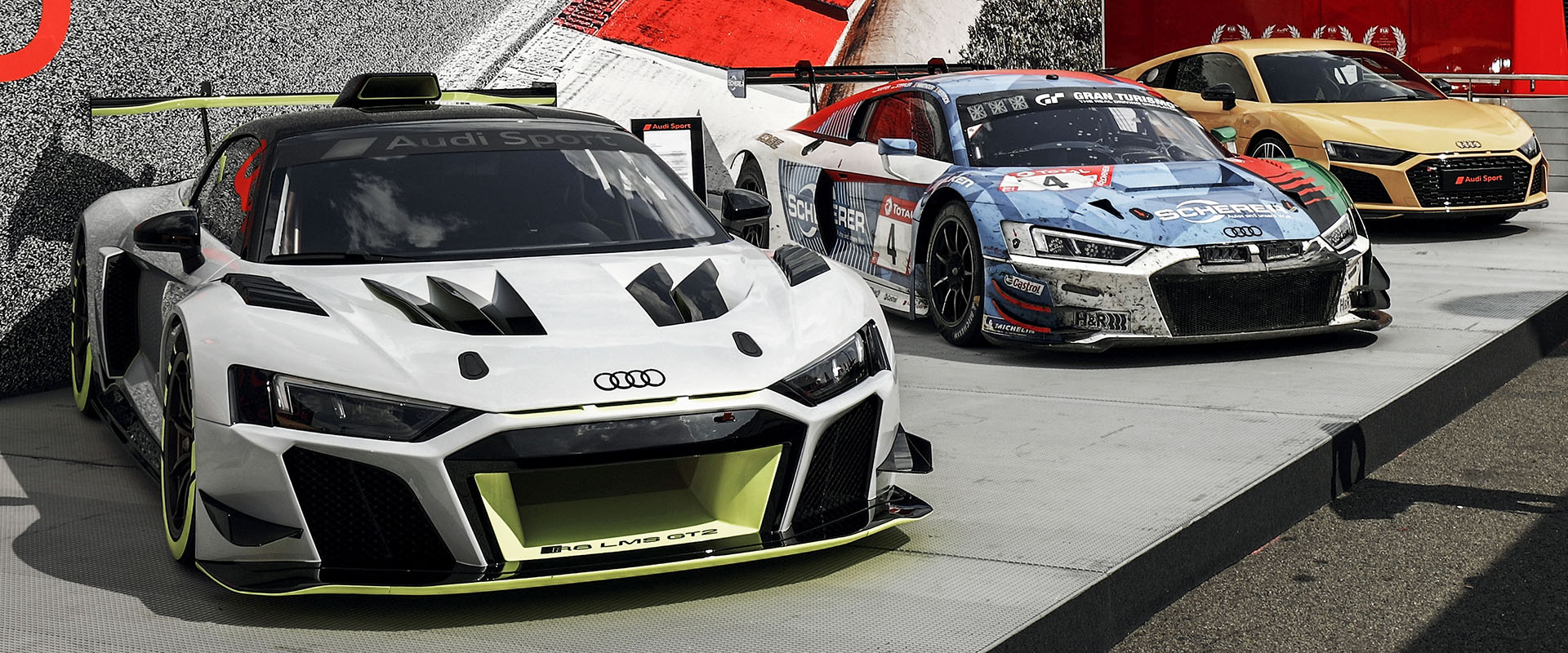 Audi R8 LMS GT2 on display