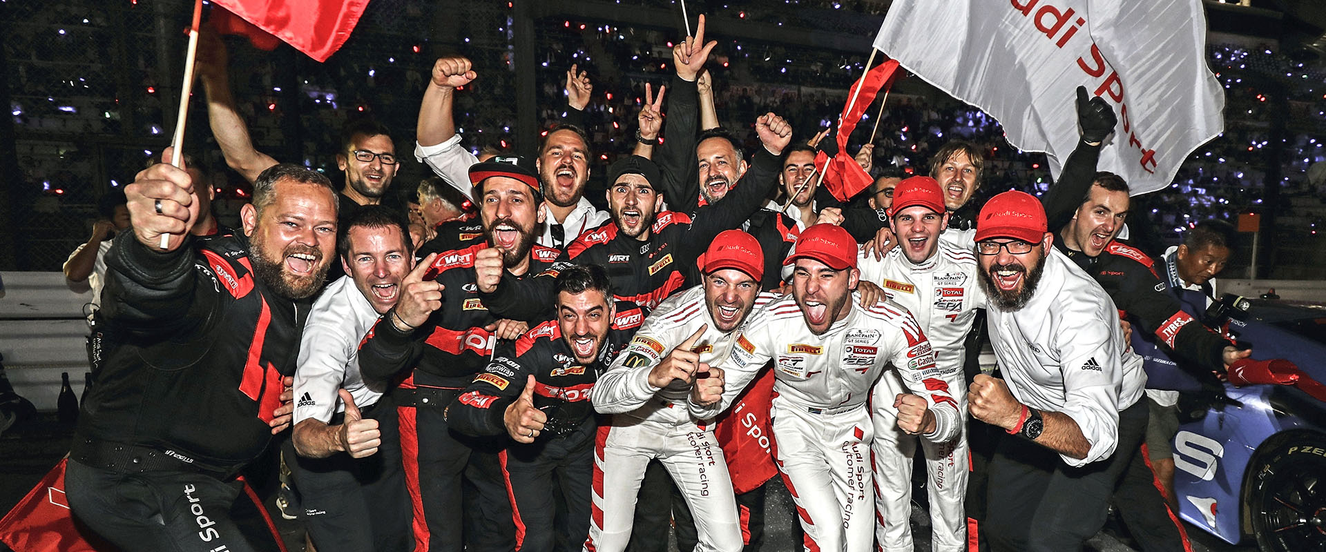 Audi Sport Team WRT celebrating