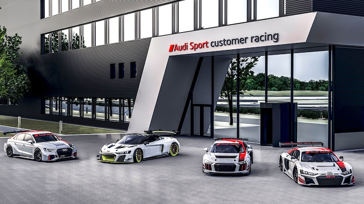 Audi R8 LMS, Audi RS 3 LMS and Audi R8 LMS GT4