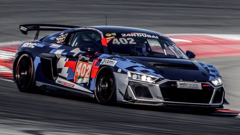Audi RS 3 LMS on the racetrack