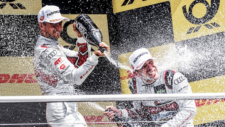 Audi drivers on the podium