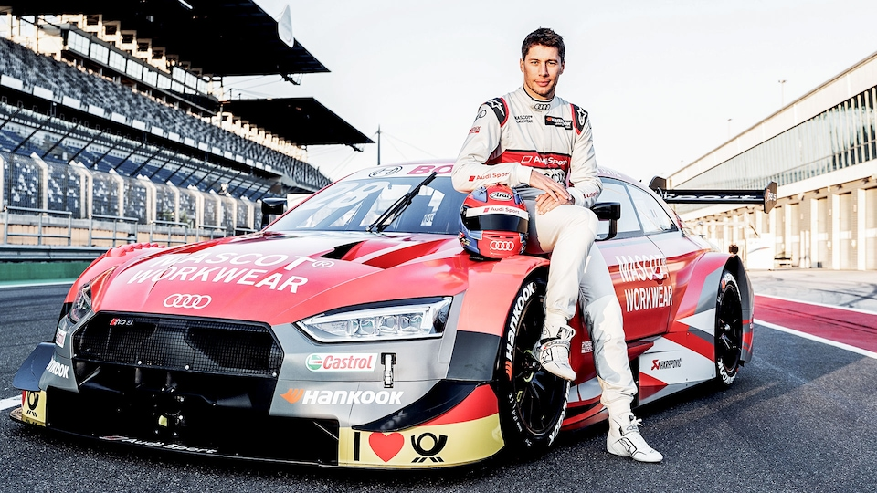 Loïc Duval with the Audi RS 5 DTM