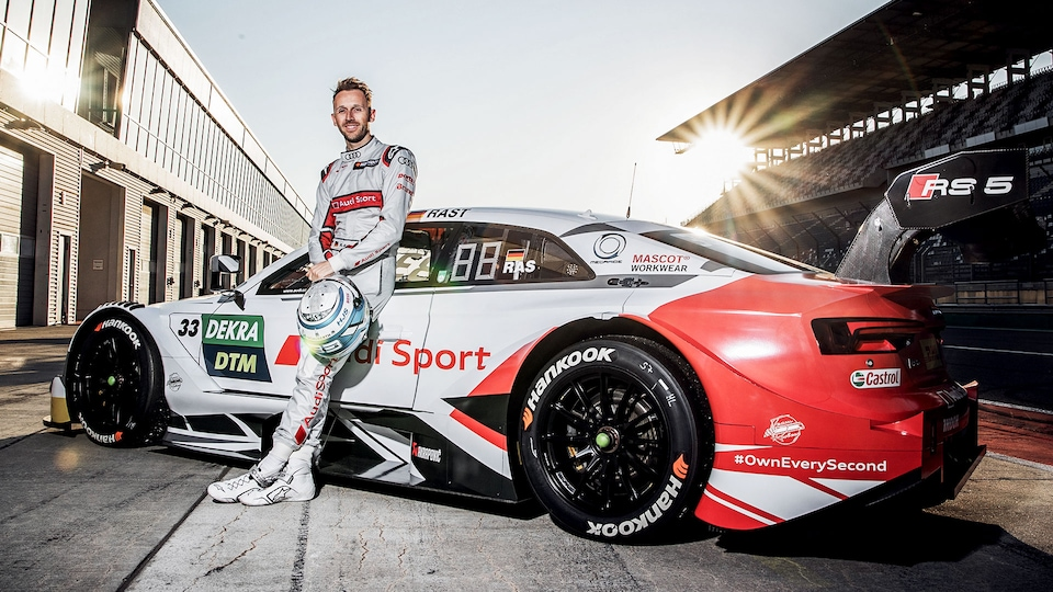 René Rast with the Audi RS 5 DTM
