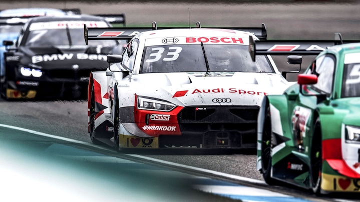 Audi RS 5 DTM on the racetrack