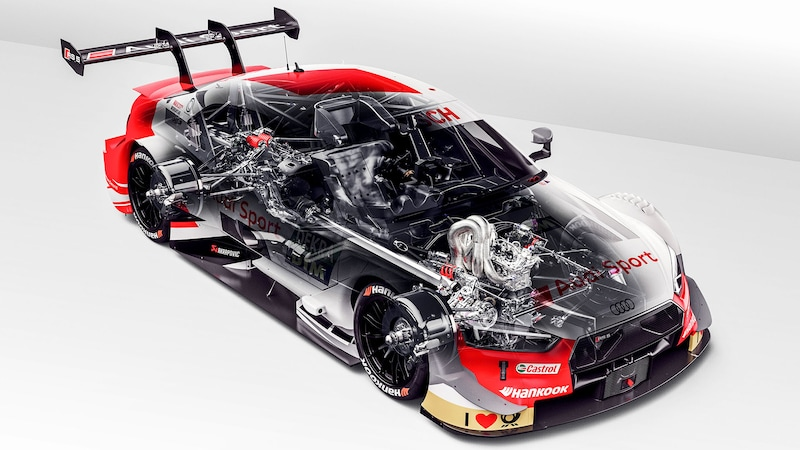 Cut-away view of the Audi RS 5 DTM