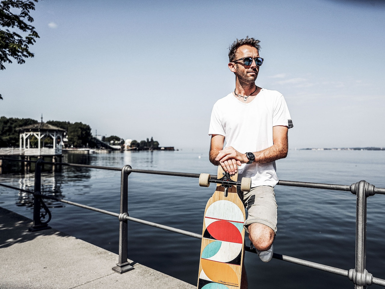 René Rast with skateboard