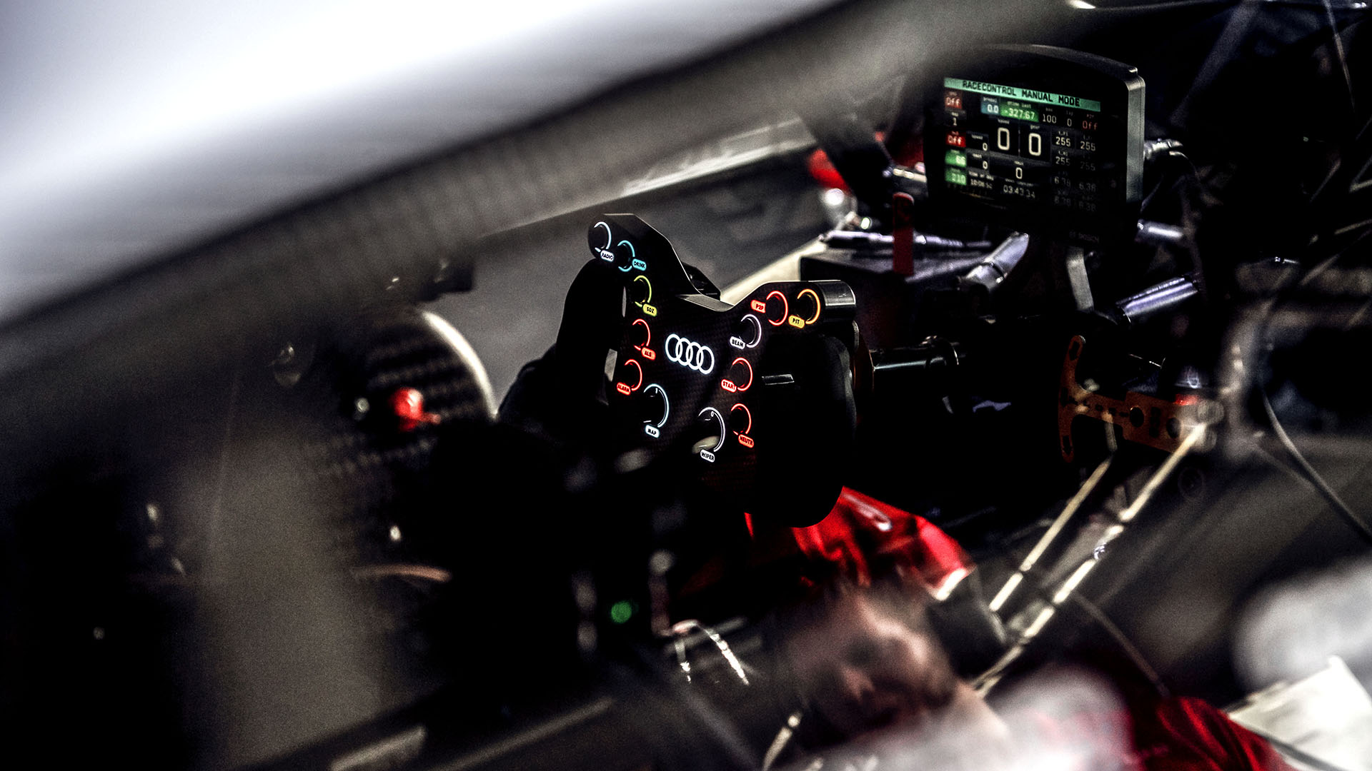 Cockpit of the Audi RS 5 DTM