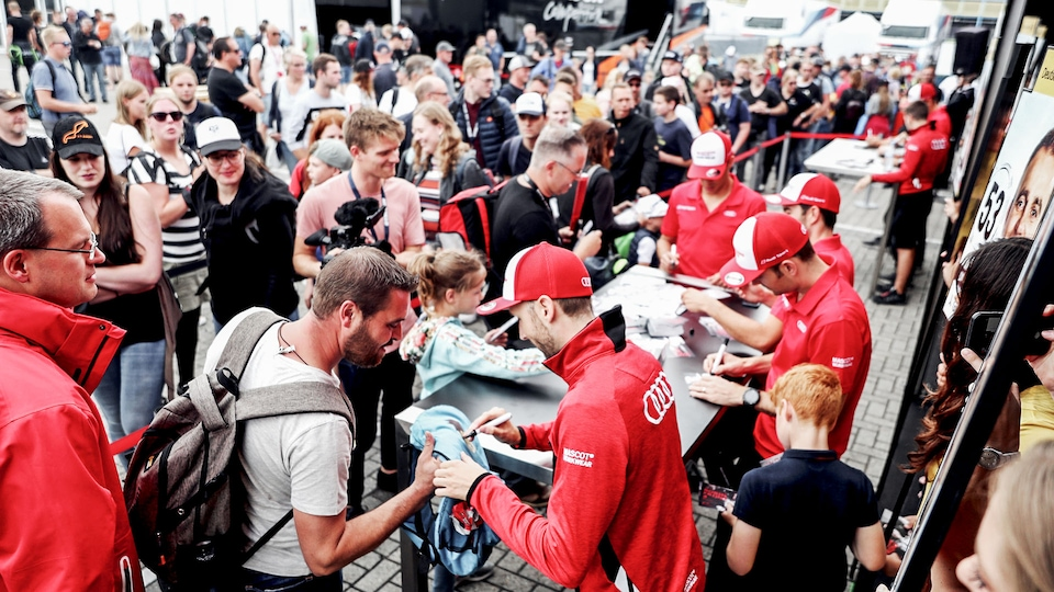 Audi drivers with fans