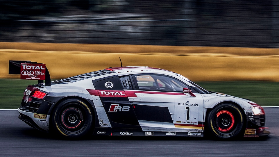 Audi R8 LMS ultra on the racetrack