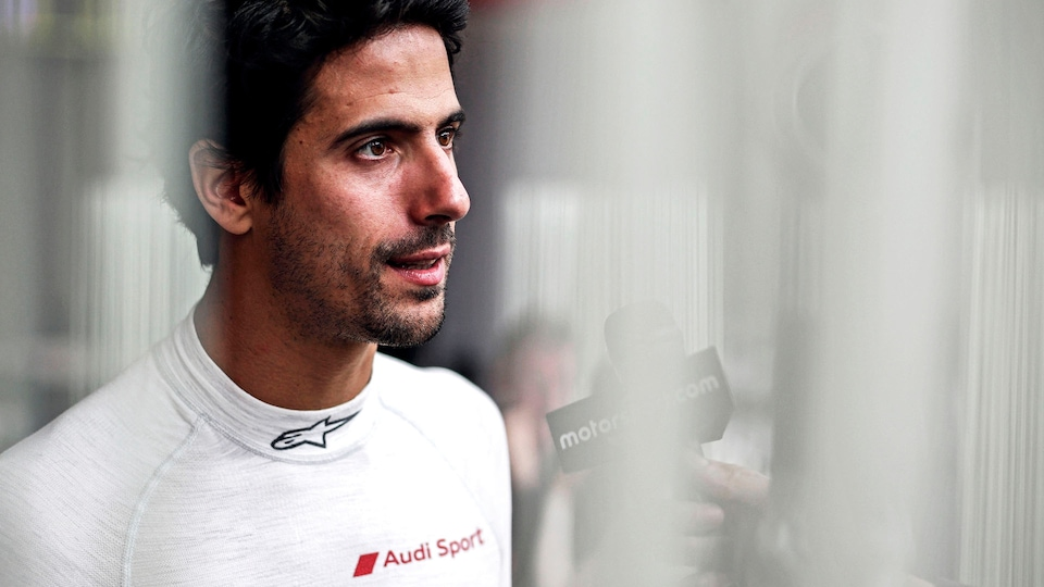 Lucas di Grassi beim Interview