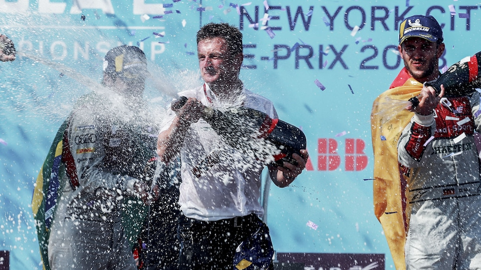 Allan McNish on the podium