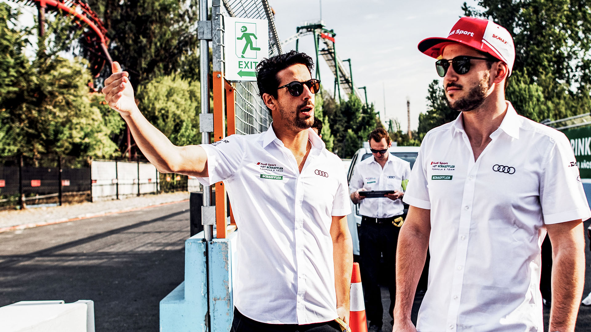 Lucas di Grassi and Daniel Abt