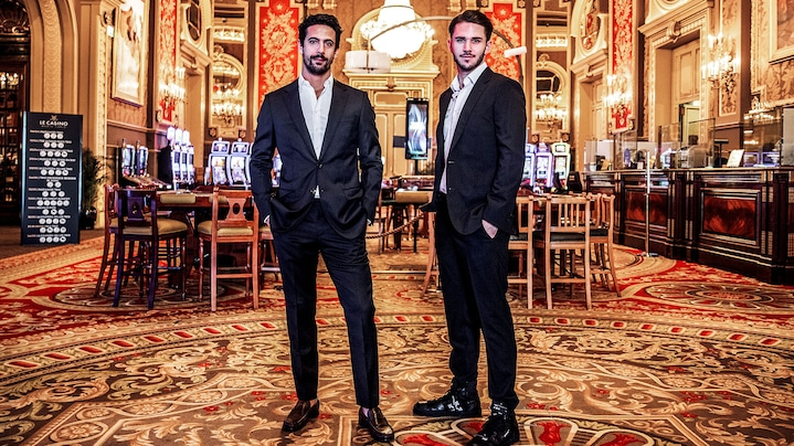 Lucas di Grassi and Daniel Abt in a casino