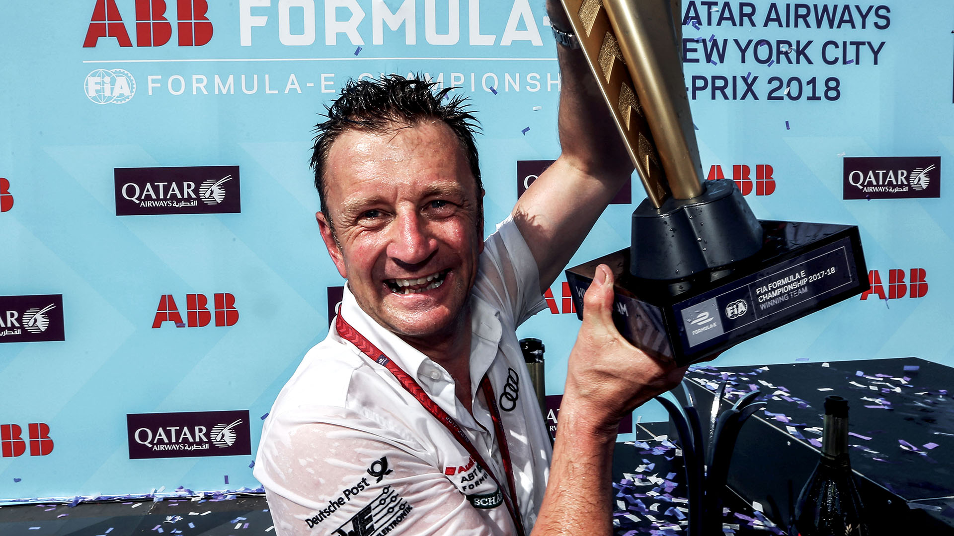Allan McNish with trophy