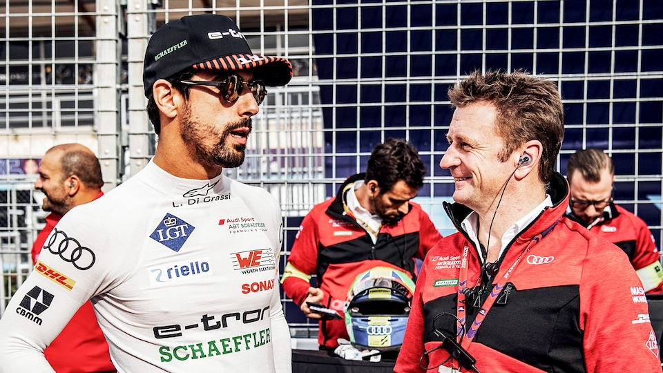 Lucas di Grassi and Allan McNish