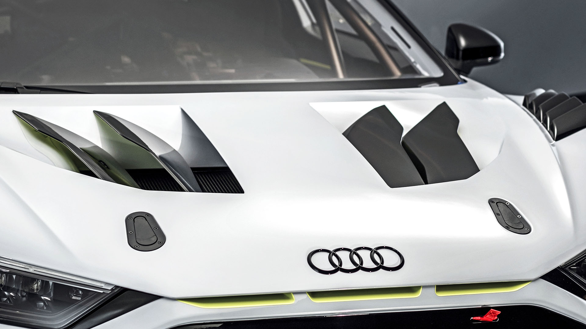 The front of the Audi R8 LMS GT2