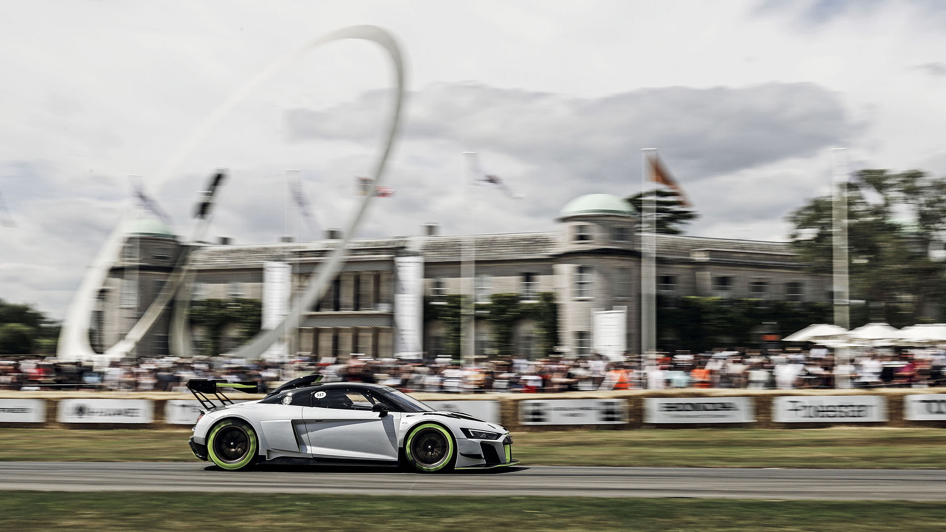 Audi R8 LMS GT2 on the racetrack