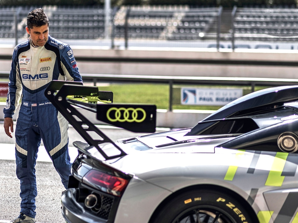 James Sofronas and the Audi R8 LMS GT2