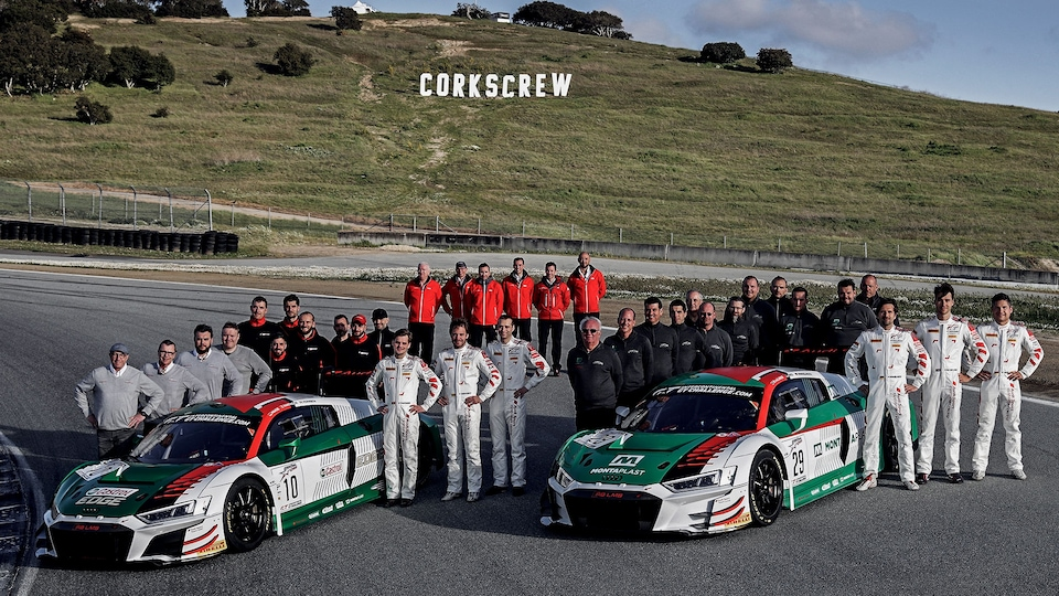 Audi Sport customer racing with Audi R8 LMS