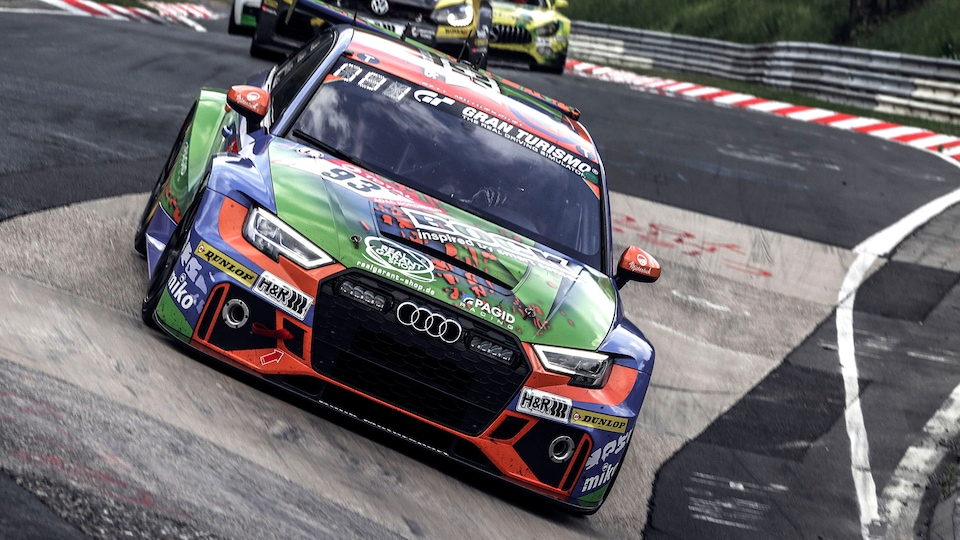Audi RS 3 LMS on the race track