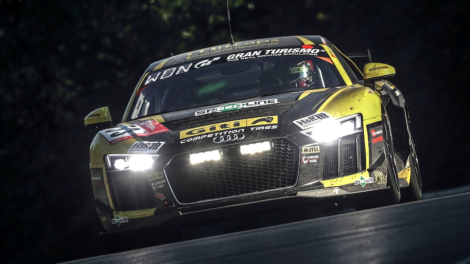 Audi R8 LMS GT4 on the race track