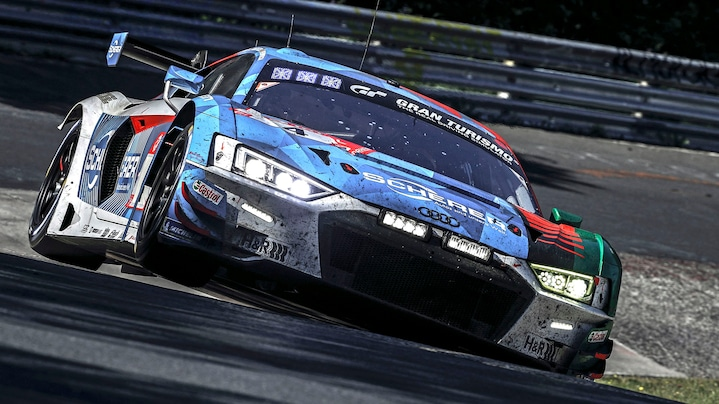 Audi R8 LMS on the race track