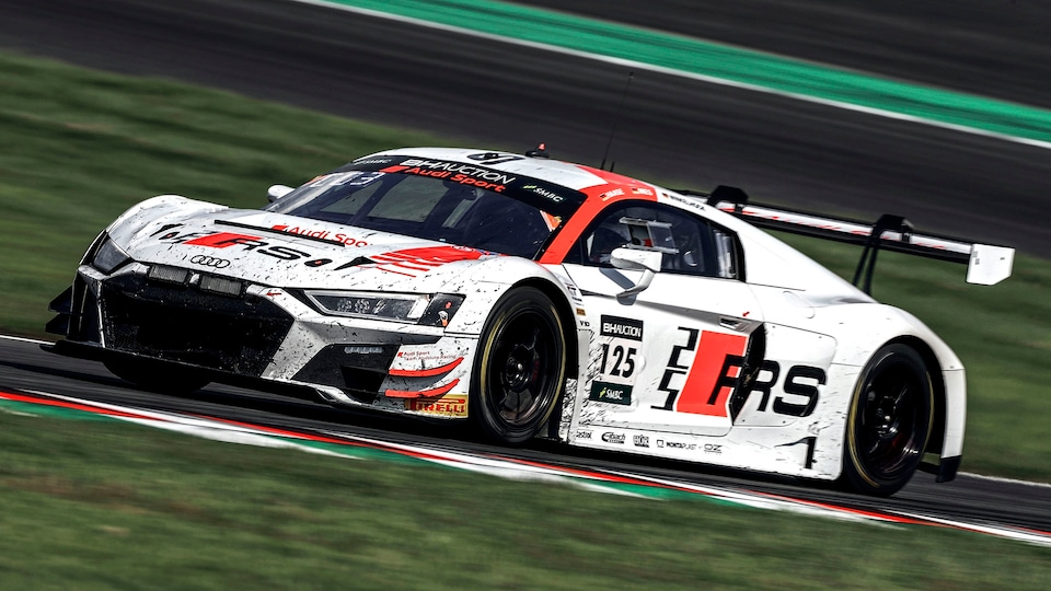 Audi R8 LMS on the racetrack