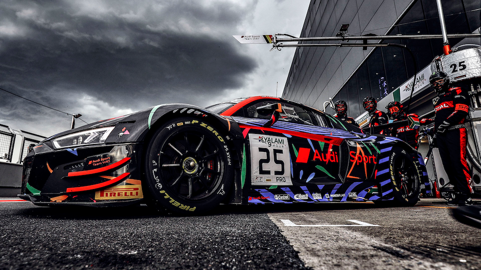Audi R8 LMS in the pitlane