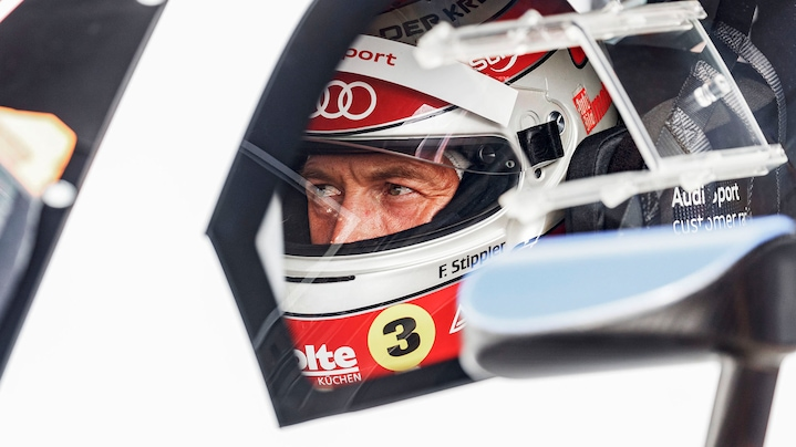 Frank Stippler in einem Audi R8 LMS