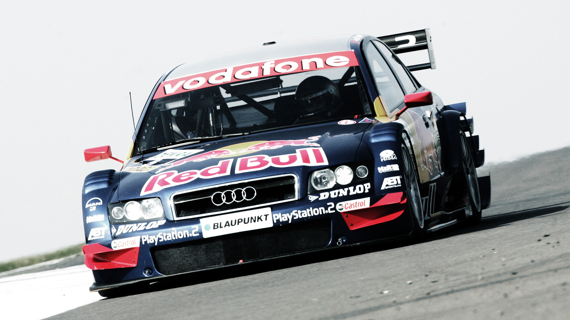 Audi A4 DTM on the racetrack