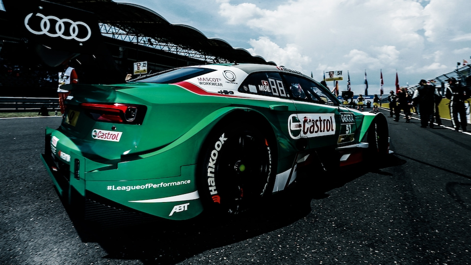 Audi RS 5 DTM on the grid