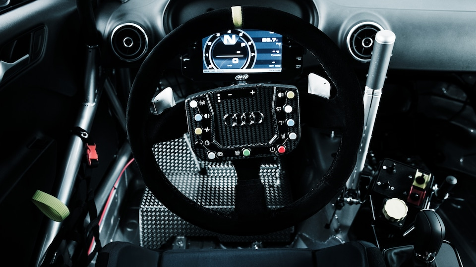 Cockpit of the Audi RS 3 LMS