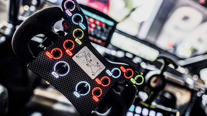 Audi RS 5 DTM steering wheel