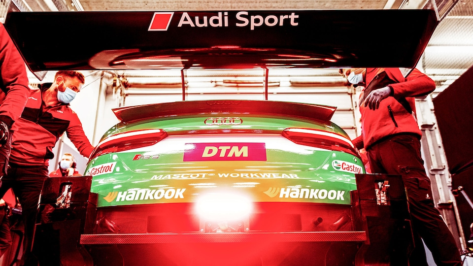 Audi RS 5 DTM in the garage
