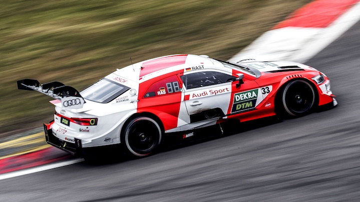 Audi RS 5 DTM on the race track
