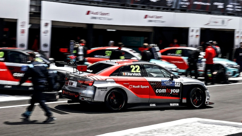 Audi RS 3 LMS in the pitlane