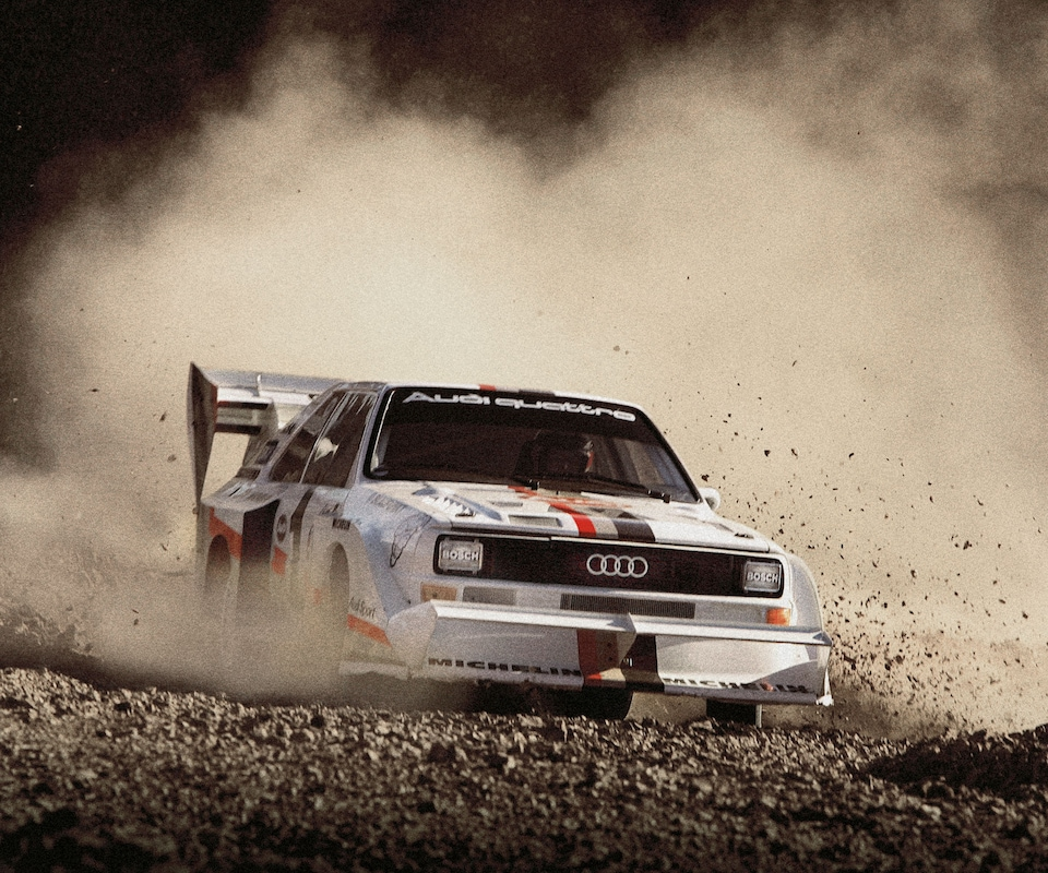 The ori­gi­nal Audi quattro: Top per­for­mance right from the start.
