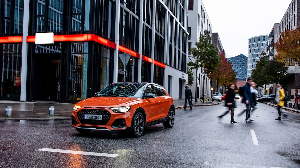Audi A1 citycarver on the street