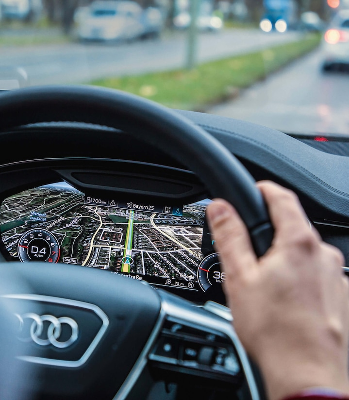 The strengths of the HERE navigation system in the Audi A8