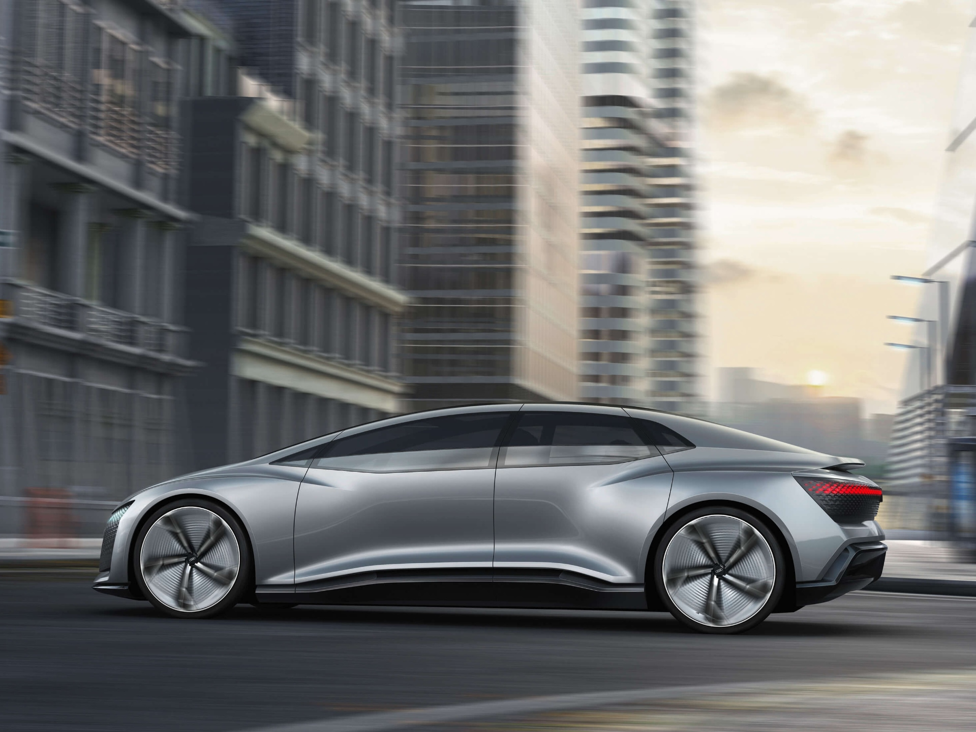 The mobility of the future of Audi: the Audi Aicon. Autonomously driving cars such as the concept car can contribute to the reduction of air pollution, because they help to regulate the traffic flow.