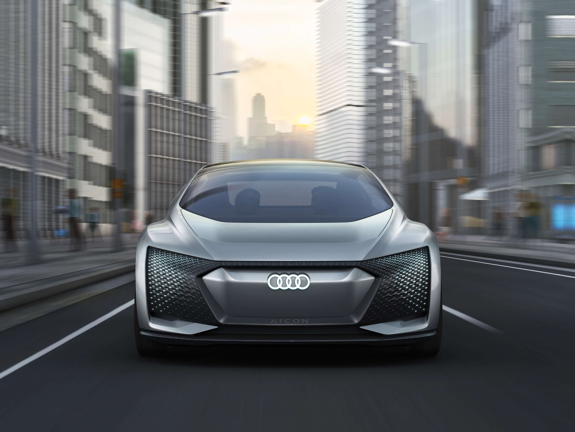Full steam ahead: the Audi Aicon scoops out all the possibilities of an autonomus luxury car.